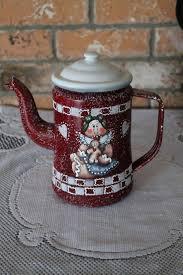 160 best painted tea u0026 coffee pots images on pinterest tole