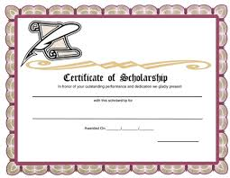 templates for scholarship awards unique award template exle for certificate of scholarship with