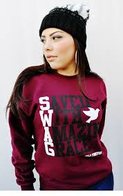 039 swag maroon unisex crew sweatshirt by jclu forever christian t