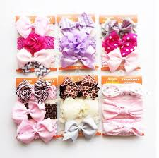 kids hair accessories 20color cotton rabbit ear toddlers elastic headband bowknot