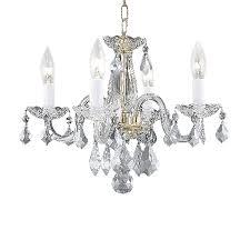 Elegant Crystal Chandelier Shop Elegant Lighting Rococo 15 In 4 Light Gold Crystal Crystal