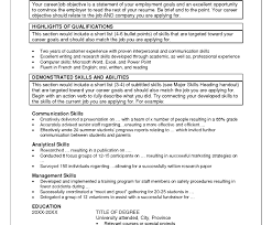 List Of Job Skills For A Resume by Resume Skills Summary Examples Example Of Skills Summary For