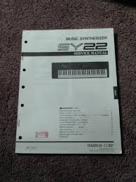 yamaha music synthesizer sy22 service manual schematics parts list