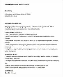 Housekeeper Resume Samples Free 100 Housekeeping Experience Resume Housekeeping Aide Cover