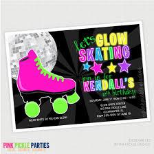 glow in the dark skating birthday party by pinkpickleparties