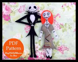 the nightmare before christmas doll jack and sally felt