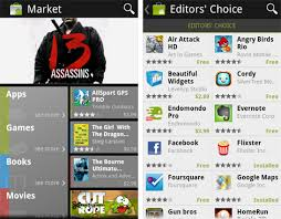 the new android market app today - Android Market App