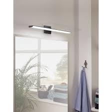 eglo tabiano matte black led bathroom light 202075a