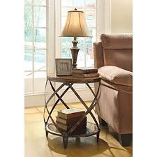 round side tables living room amazon com
