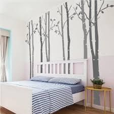 Tree Wall Art Decals Vinyl Sticker N Sunforest 8ft White Birch Tree Vinyl Wall Decals Nursery Forest