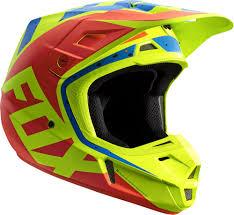 helmets motocross fox v2 nirv mx helmet helmets motocross yellow blue fox bmx gloves