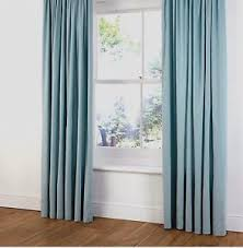 Baby Blue Curtains B Q Faux Suede Ring Top Lined Curtains In Duck Egg Light Baby Blue