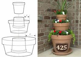 easy diagram on creating a 3 tier planter diy home decorating