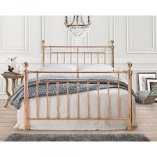 rose gold metal nora vintage kingsize bed frame metal bed frames