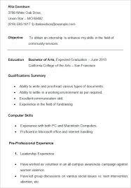 resume exle for college student internship resume exle resume template for college students new