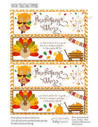 thanksgiving give thanks treat bags thanksgiving toppers happy