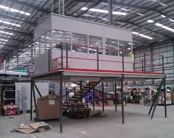 steel office on mezzanine floor build avanta uk