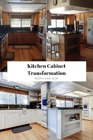 white kitchen cabinets refinishing 3 steps to paint oak kitchen cabinets white before and