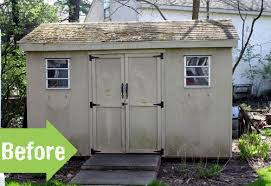shed makeovers before after kelly s garden shed makeover pith vigor