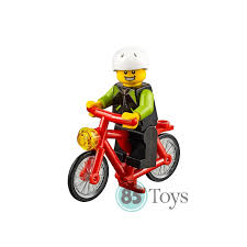 lego technic motocross bike city cyclist and red bike from set 60134