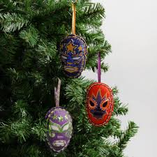 mexican wrestler decorations box of 3