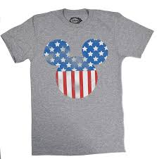 disney mickey mouse americana silhouette t shirt