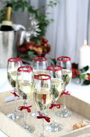 glitter rim drinks for the festive party season a glass of ice