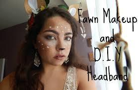 fawn headband fawn makeup d i y headband