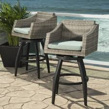 Outdoor Swivel Bar Stool Outdoor Barstools For Less Overstock