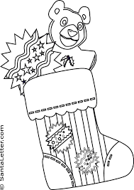 christmas stocking coloring pages santaletter
