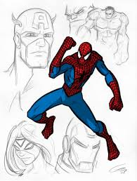 marvel character sketches 2 by grantgoboom on deviantart
