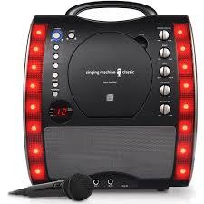 light up karaoke machine singing machine sml343bk portable plug and play cd g karaoke system