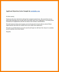 Thank You For Your Resume 7 Sample Job Rejection Letter Sephora Resume