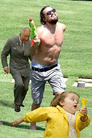 Strutting Leo Meme - never forget these memes of a shirtless nerf toting leonardo dicaprio