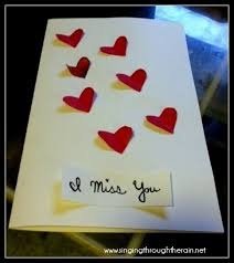 i miss you cards deployment idea 5 i miss you cards singing through the