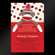 printable sock monkey baby shower invitations afoodaffair me