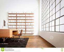 Modern Studio Furniture by Modern Studio Interior Panoramic Window Natural Wood Floor Blank