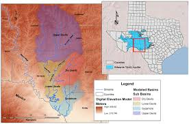 Colorado River Texas Map Links Groundwater With Surface Water In Devils River