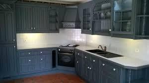 meuble cuisine repeint repeindre cuisine en gris meubles cuisine repeint en gris home deco