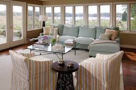 Living Rooms With Blue Couches by Beach Style Living Room Blue Sofa Coastal Coral Cottage Ice Blue