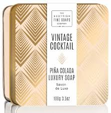vintage cocktail pina colada vintage cocktail soap in a tin by the scottish fine