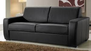 canap cuir noir 3 places canapé convertible en cuir 3 places lit 140 cm promo usine