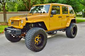 yellow jeep 2014 american force custom built jeep wrangler unlimited sport