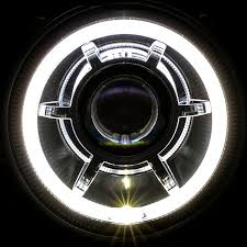 2012 jeep wrangler headlights led halo 2007 2016 jeep wrangler jk speaker style led projector
