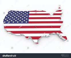 United Staes Flag United States Flag On 3d Map Stock Illustration 173461736