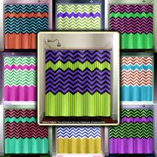 Chevron Style Curtains Lime Green Stripe Purple Zig Zag Chevron Shower Curtain