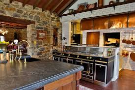 Farmhouse Style Kitchen Islands by 30 Inventive Kitchens With Stone Walls
