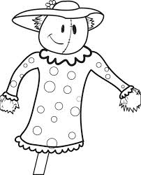 free printable scarecrow coloring kids 6
