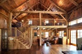 barn home interiors farmhouse cultivates modern amenities vintage construction