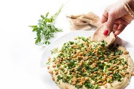 classic hummus with toasted pine nuts the lemon bowl